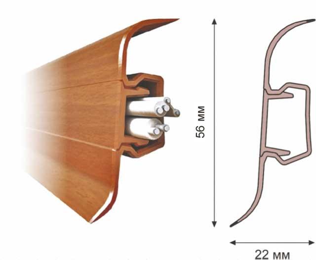 Плінтус для підлоги RICO Leo №180 Дуб античний